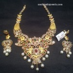 22K Gold Antique Pachi Necklace Set