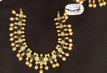 Gold Emerald Pearl Neclace from Premraj