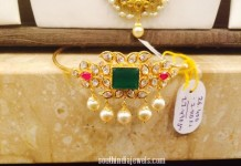 Gold Emerald Arm Band design