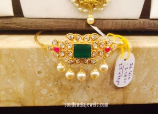 Gold Emerald Arm Band design