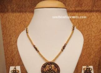 Gold Meenakari work Necklace from NAJ