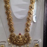 Gold Nakshi Temple Long Necklace