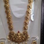 Gold Nakshi Temple Long Necklace