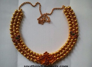 Latest 22k gold necklace Design