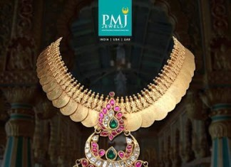 Gold Ruby Kasumalai from PMJ jewels