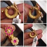 Gold Ruby Ring Type Earrings