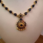 Gold Sapphire Necklace Design