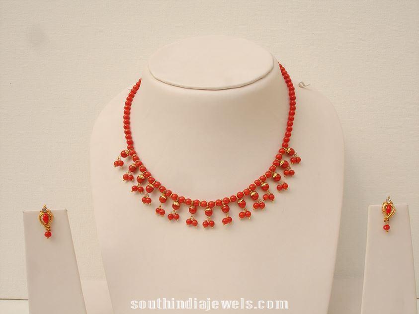 Imitation Coral Necklace latest design