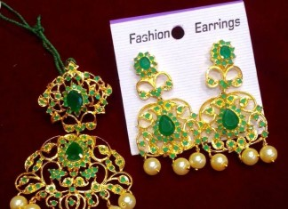 Imitation Emerald earrings