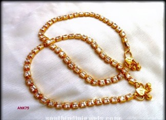 Imitation Kundan Anklet Model