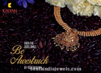 Kalyan Jewellers Temple Jewellery Necklace Design