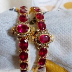 Latest Gold Ruby Bangle Model