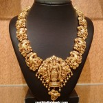 Latest Temple Jewellery Necklace Design 2015
