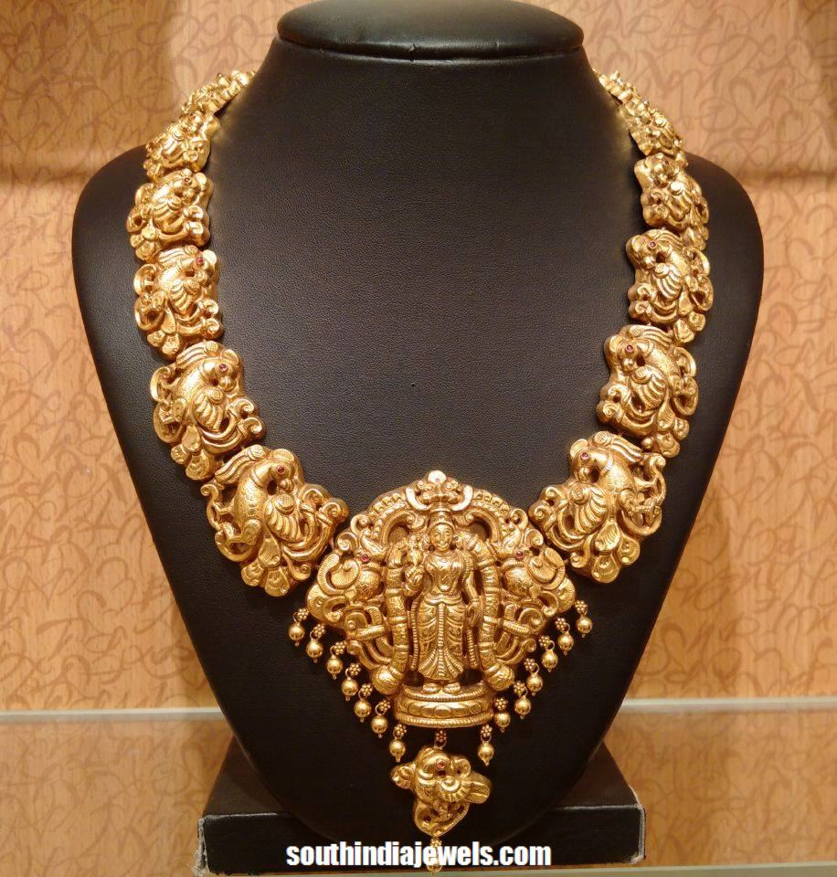 Latest temple jewellery necklace design 2015 south india jewels latest temple jewellery necklace 2015 frm naj aloadofball Gallery