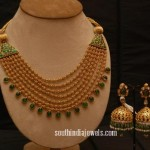 Gundala Emerald Necklace with Jhumkas