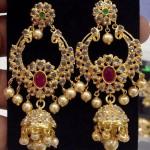 Imitation Uncut Stone Jhumka