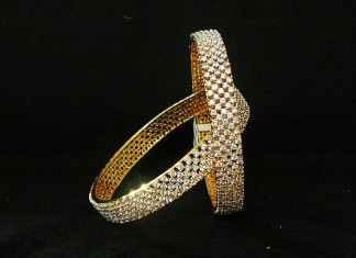 1 gram gold stone bangle design