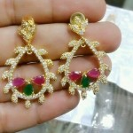 1 Gram Gold Stone Earrings