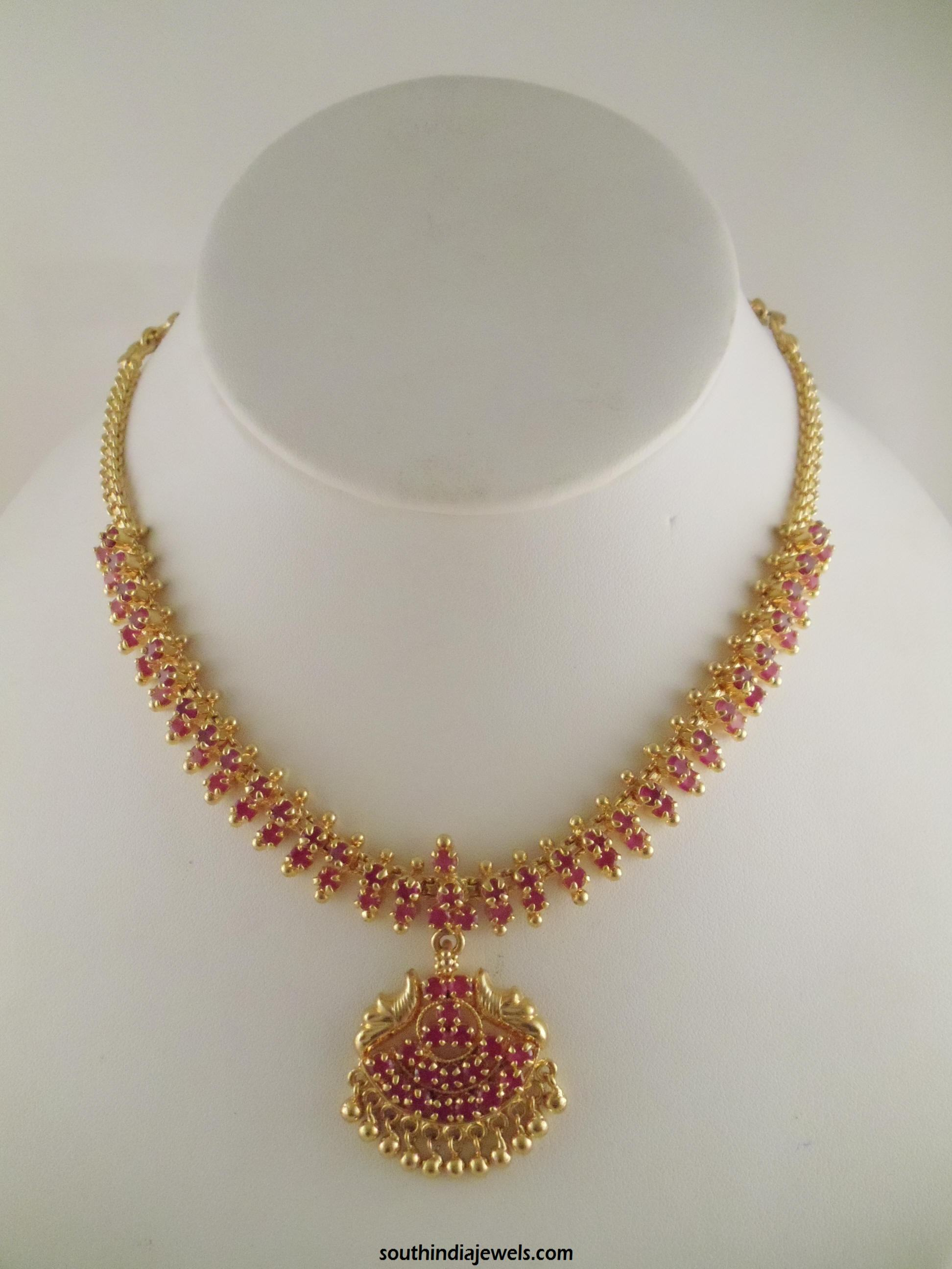25 Indian Gold Choker Necklace Designs | Styles At Life