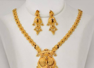 22k gold necklace latest model