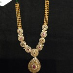 Designer Gold Stone Necklace