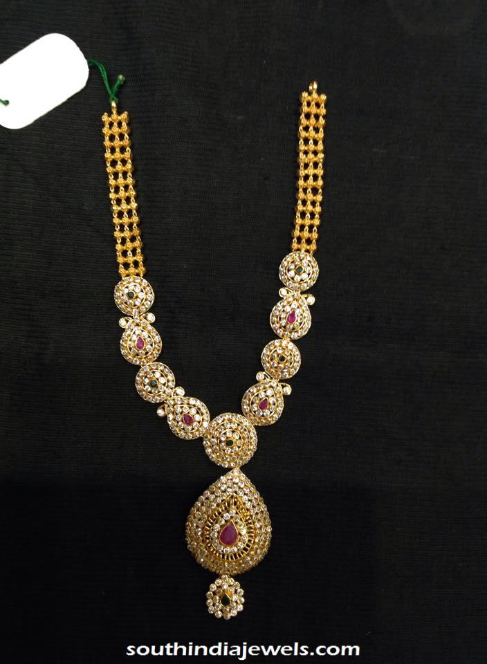 22k gold simple gold necklace design for inquiries please contact the - Designer Gold Stone Necklace South India Jewels