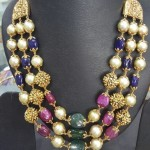 Multilayer Gold Antique Beads Mala