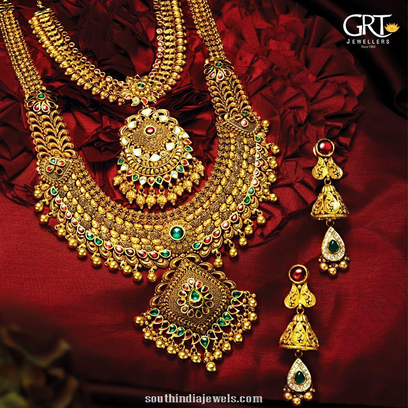 Bridal Gold Jewelleries From Grt South India Jewels