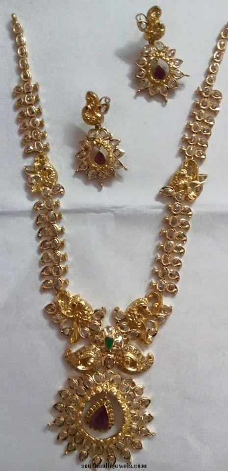 CZ Stone Gold Long Necklace
