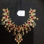 CZ Stone Ruby Emerald Necklace From PSJ