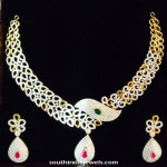 Gold Fancy Necklace and Earrings