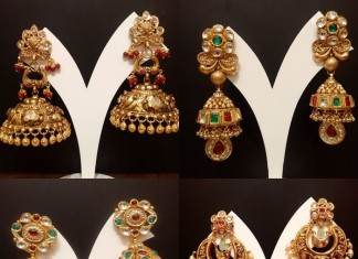 Desginer gold Jhumks from NAJ