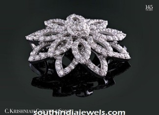 Diamond pendant design from C Krishniah Chetty and sons
