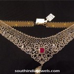 Light Weight Diamond Choker Necklace