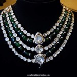 Multilayer Diamond Polki Necklace
