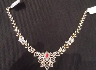 Diamond Short Necklace Designs