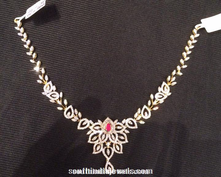 Diamond Short Necklace Designs