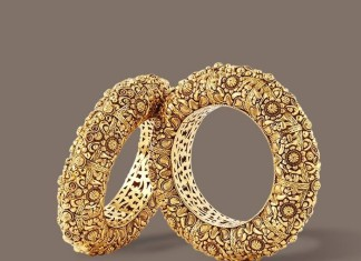 Gold Antique Bangle From TBZ