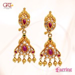 Gold Ruby Earrings from GRT