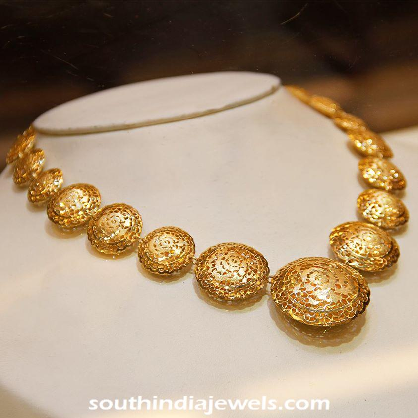 Gold Italian Style Necklace From Manubhai Jewellers South India Jewels