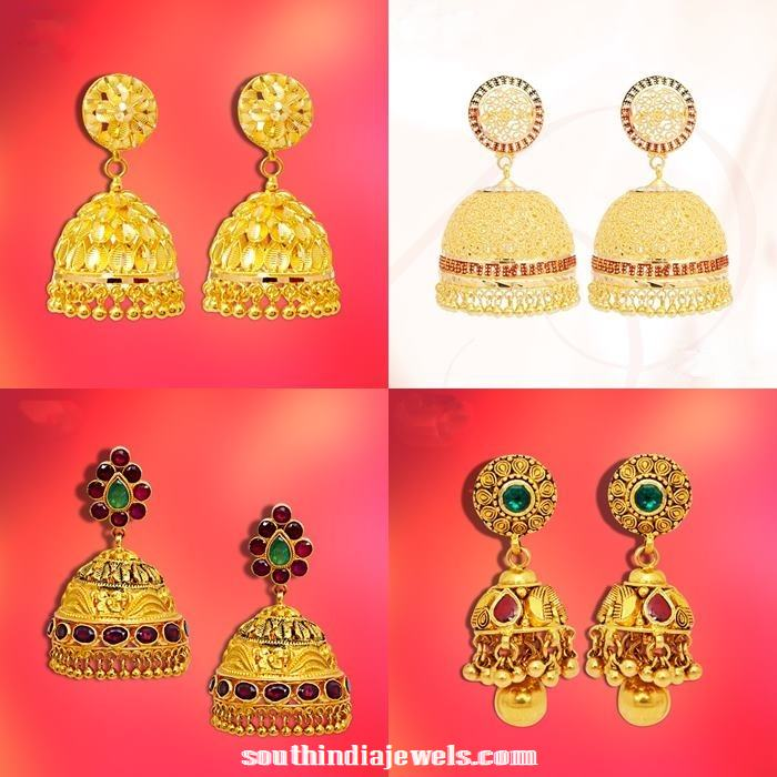 Gold Jhumka Collections from GRT Jewellers