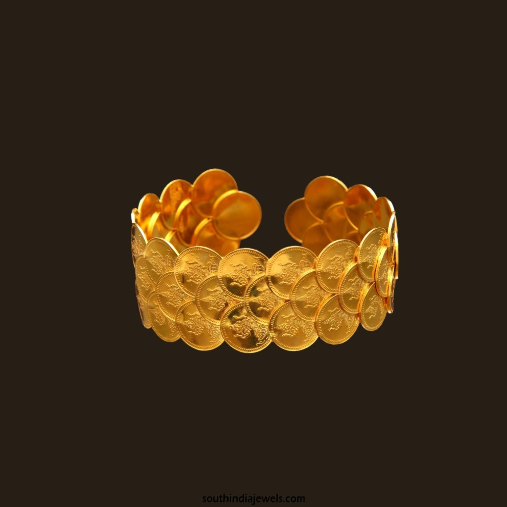 Gold Kasu Bangle Design from Vummudi Bangaru Jewellers