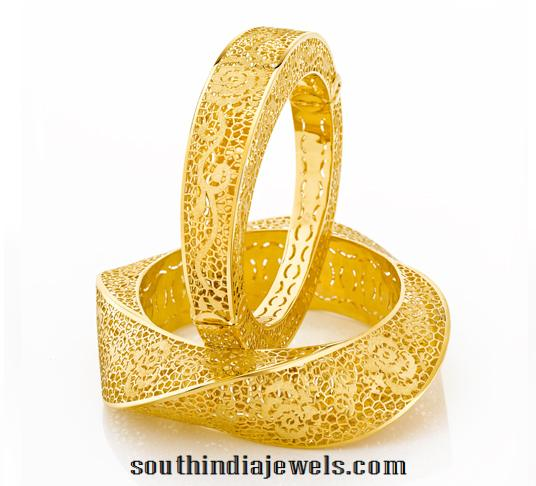 22k gold bangle design from Joyalukkas