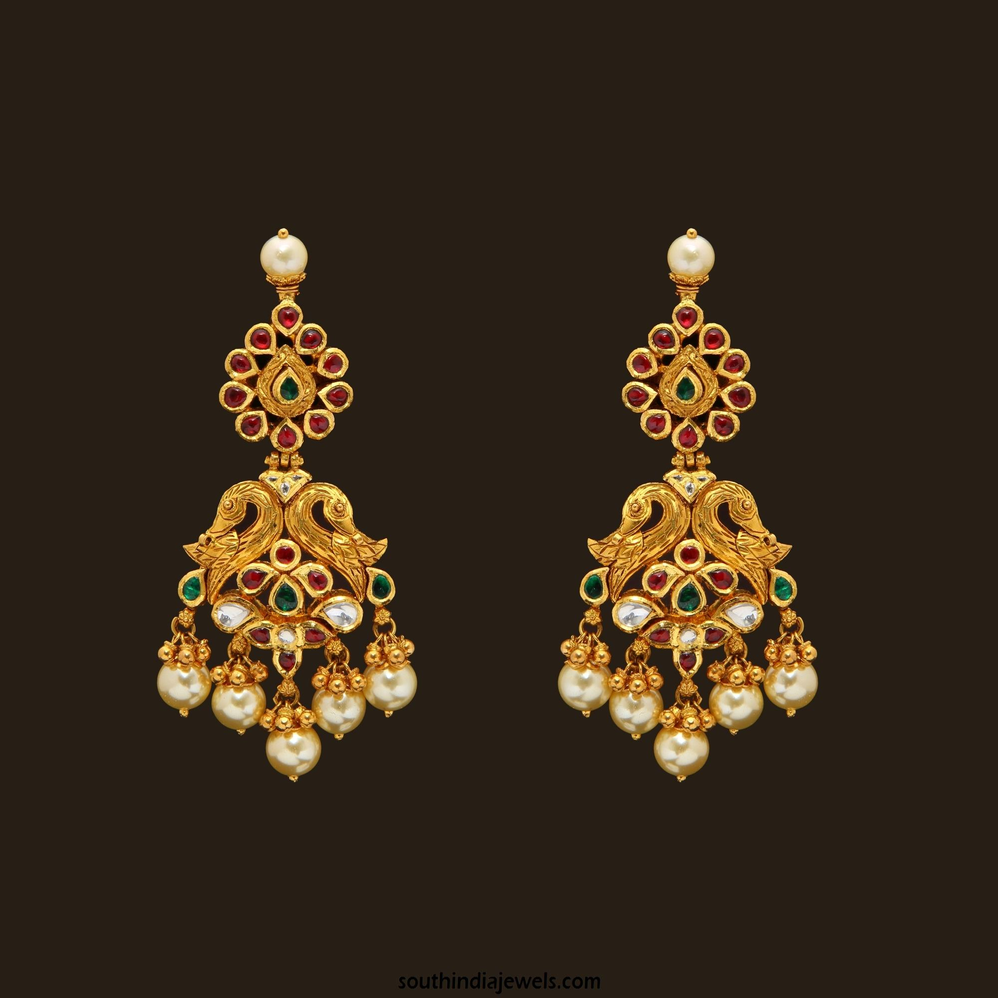 Gold Antique Pea Earrings From Vbj