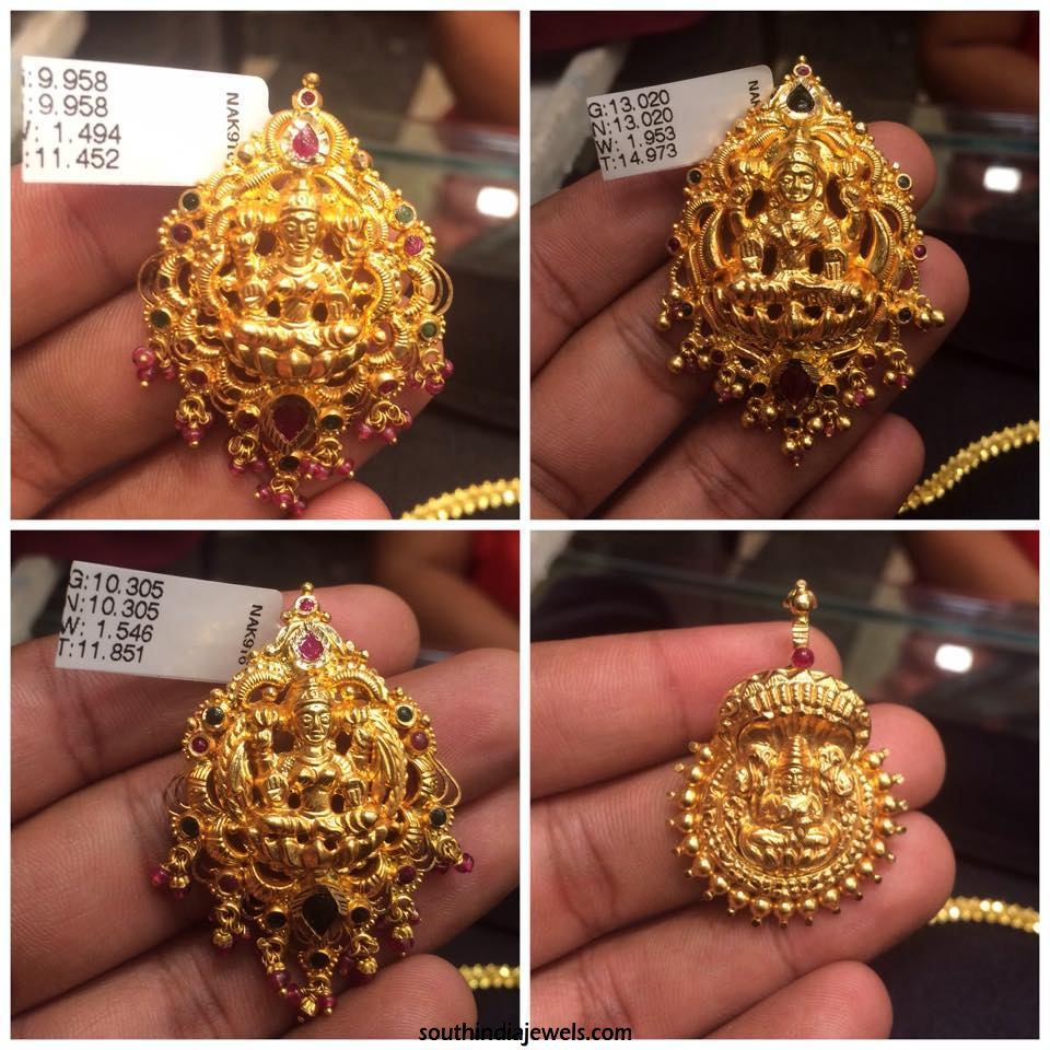 Gold Lakshmi Pendant Collections