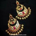 Gold Ruby Earrings Design