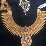Kerala Style Gold Spike Necklace