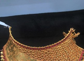 Bridal Gold ruby Choker design