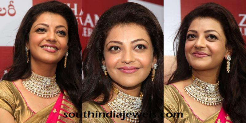 Kajal Agarwal in Khazana Jewellery Stunning choker necklace