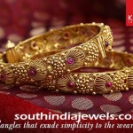 Kalyan Jewellers Antique Gold Bangle